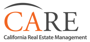 CARE Logo: Arc above CARE and California Real Estate Management